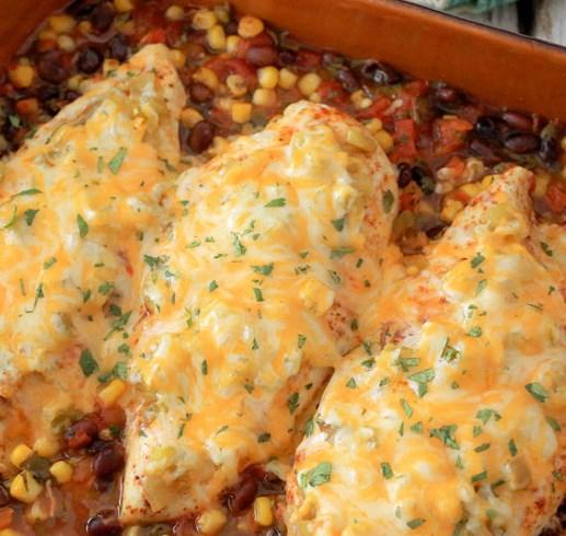 Santa Fe Baked Chicken #dinner #bestchicken