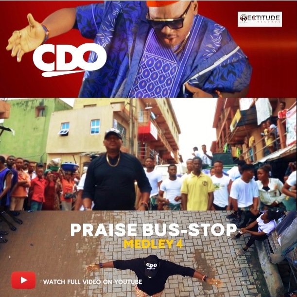 Music Video: CDO storms the streets and markets with free Gospel CDs as he shoots and premieres PRAISE BUS-STOP Medley 4 [@cdoofficial]