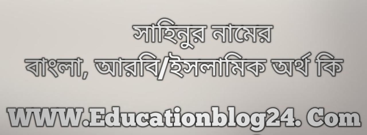 Sahinur name meaning in Bengali, সাহিনুর নামের অর্থ কি, সাহিনুর নামের বাংলা অর্থ কি, সাহিনুর নামের ইসলামিক অর্থ কি, সাহিনুর কি ইসলামিক /আরবি নাম