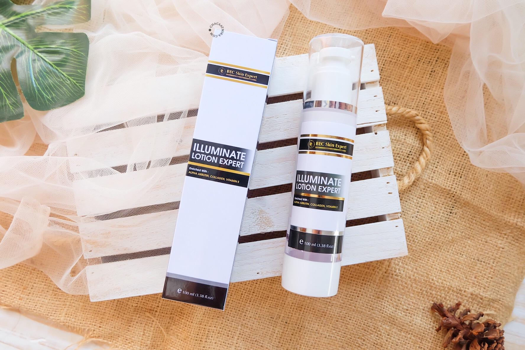 Review Illuminate Lotion Expert BEC Skin Expert