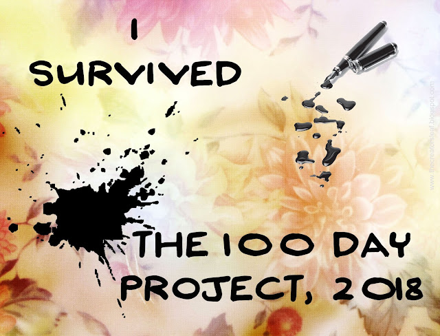 Alice Hendon, I Survived the 100 Day Project, 2018, the creator's leaf