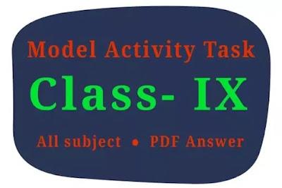 Model activity task class 9