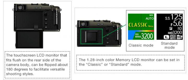 Два экрана камеры Fujifilm X-Pro3