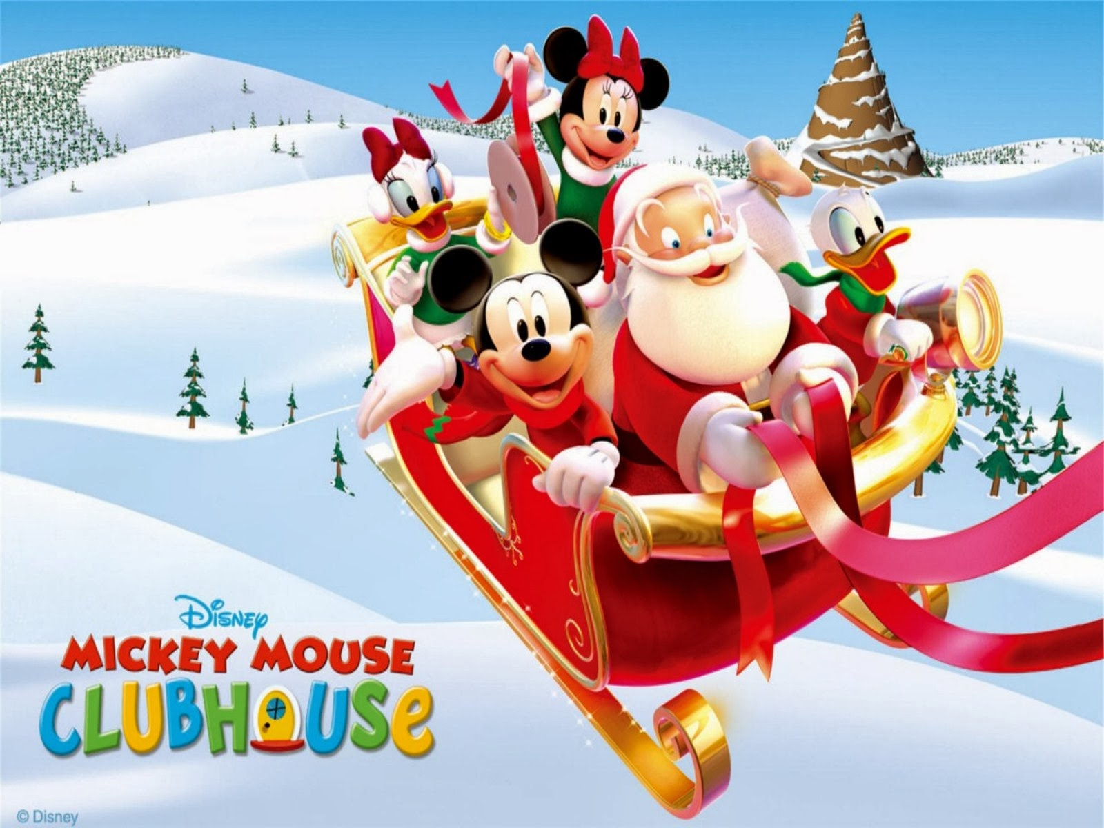 hd wallpapers mickey mouse christmas santa claus 279281