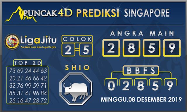PREDIKSI TOGEL SINGAPORE PUNCAK4D 08 DESEMBER2019