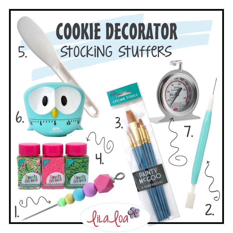 Cookie decorator stocking stuffer gift list