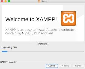 Proses xampp mac os sedang berjalan