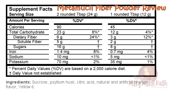 Product Review: Metamucil Fiber Powder | Dear Kitty Kittie