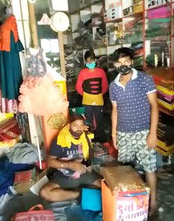 चौकी प्रभारी ने दुकान का किया चालान | #NayaSaberaNetwork