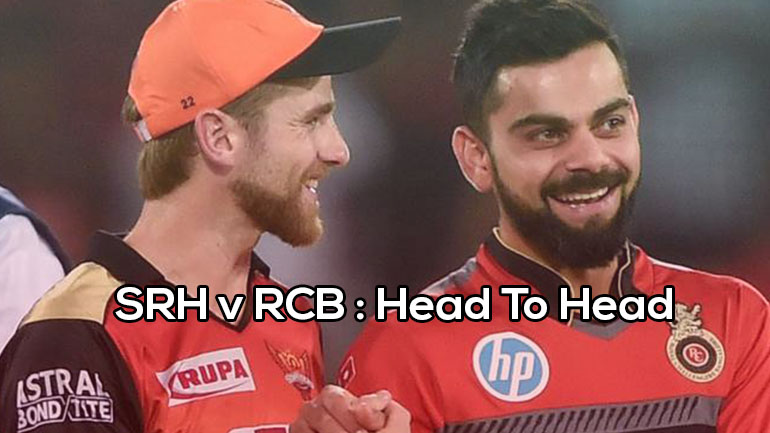 RCB v SRH: Head To Head (H2H) Records | Matches | IPL | Stats