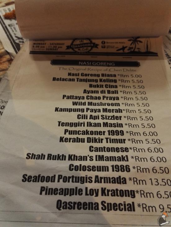 Menu Unik Qasreena Cafe Bukit Katil Melaka