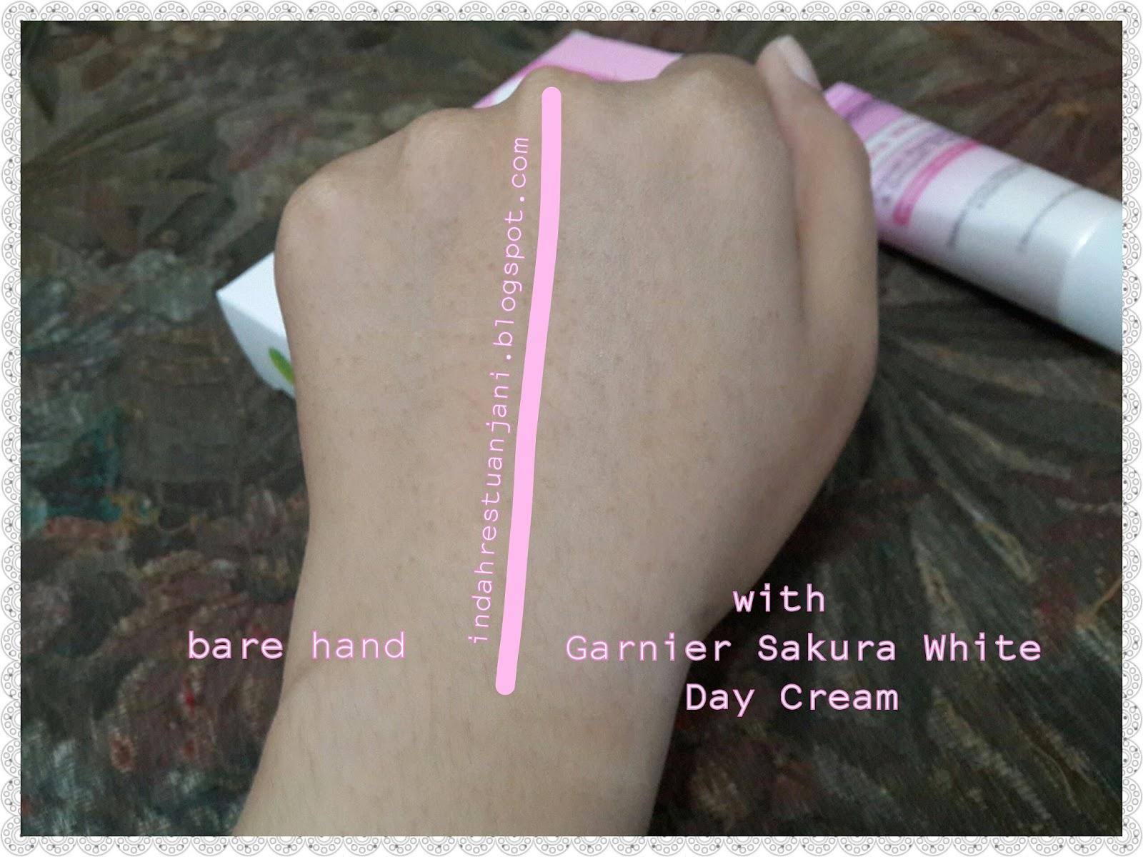 Garnier Sakura White Pinkish Radiance Whitening Cream Day 20ml 18ml Spf21 Aku Pakai Smooth Pores Serum