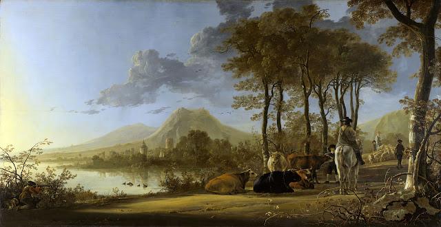 Альберт Кёйп - Речной пейзаж, 1655-60