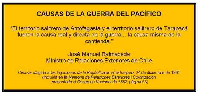 El Blog De Cesar Vasquez Bazan Peru Politica Economia Historia Causas De La Guerra Del Pacifico Y Objetivos Chilenos En El Conflicto Causas Y Objetivos Proclamados Por El Gobierno De Chile