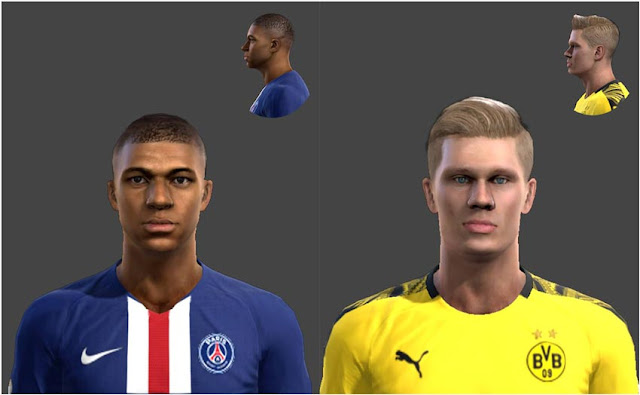 Pes 2013 Kylian Mbappe And Erling Haaland Face Kazemario Evolution