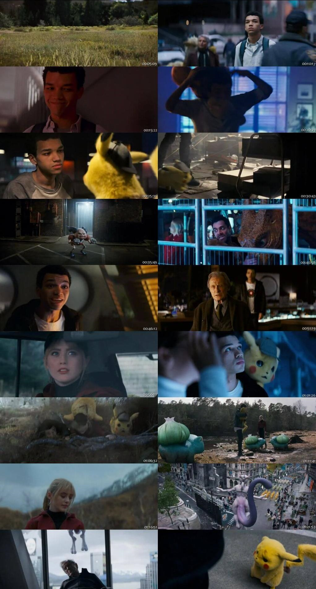 Screen Shot Of Pokémon Detective Pikachu 2019 300MB Full Movie Hindi Dubbed Free Download 720P BRRip HEVC