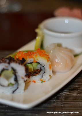 sushi at The Art of Brunch in Movenpick Dubai
