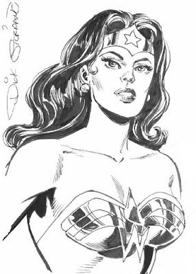 Wonder Woman portrait by Dick Giordano