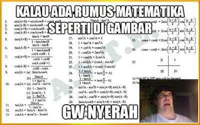 60 Meme Kocak Tentang Pelajaran Matematika