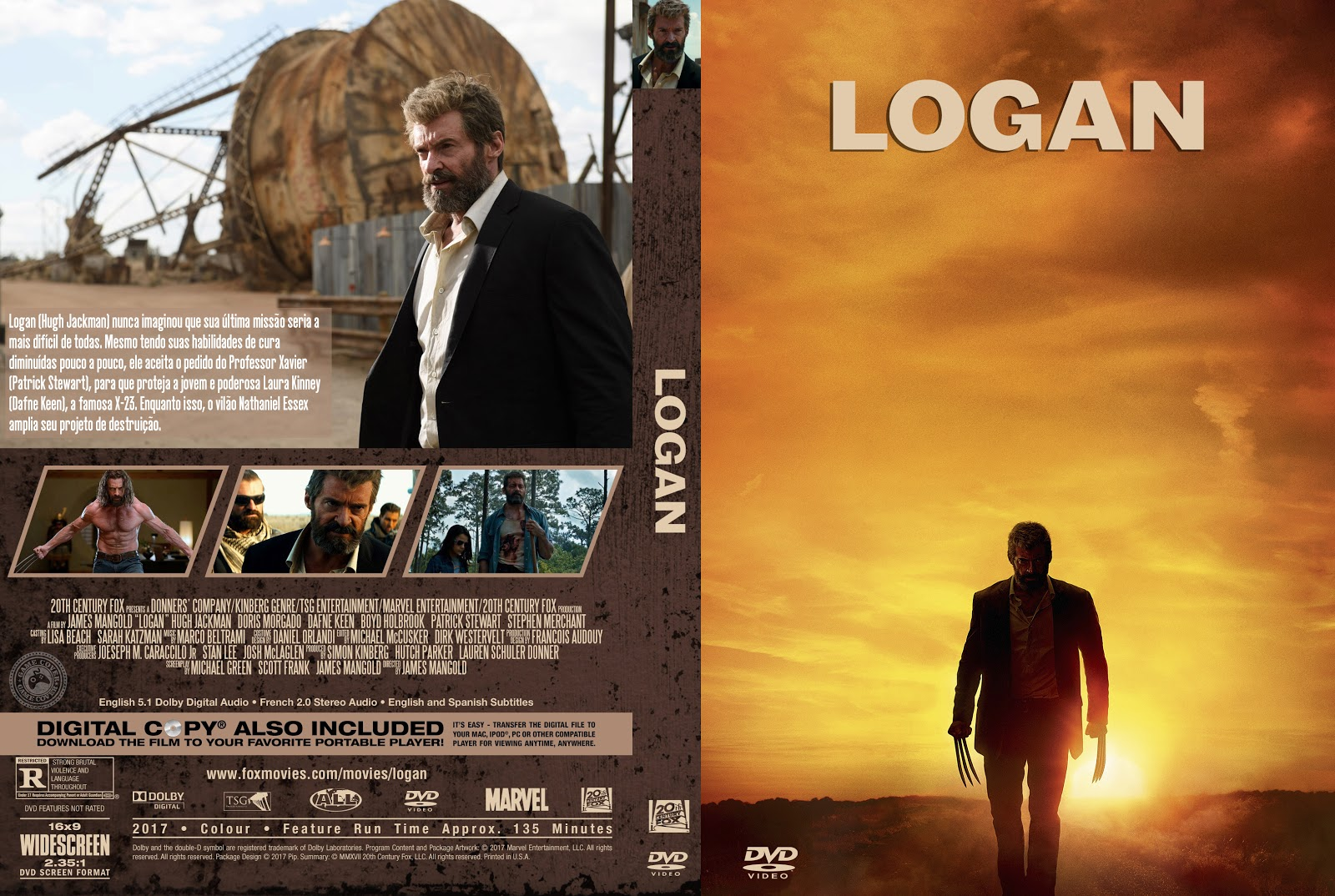 Capa DVD Logan [Exclusiva]