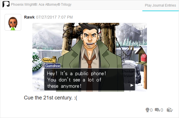 Phoenix Wright Ace Attorney Trials and Tribulations public phones 21st century