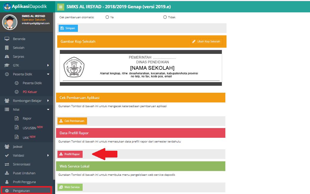 Cara Mudah Install Prefill Rapor Di Dapodik Iman Jayoda