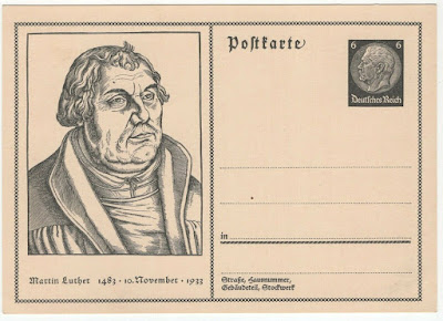 Postcard, Deutsches Reich, Martin Luther