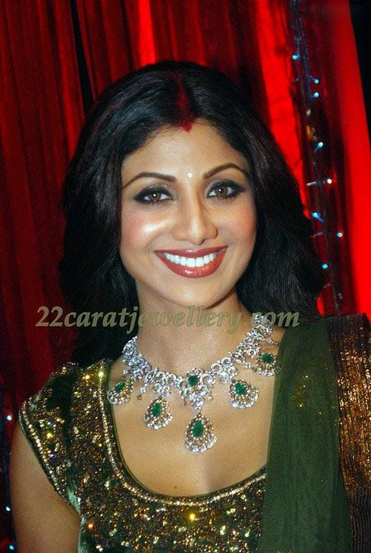 Shilpa Shetty In Diamond Necklace Jewellery Designs