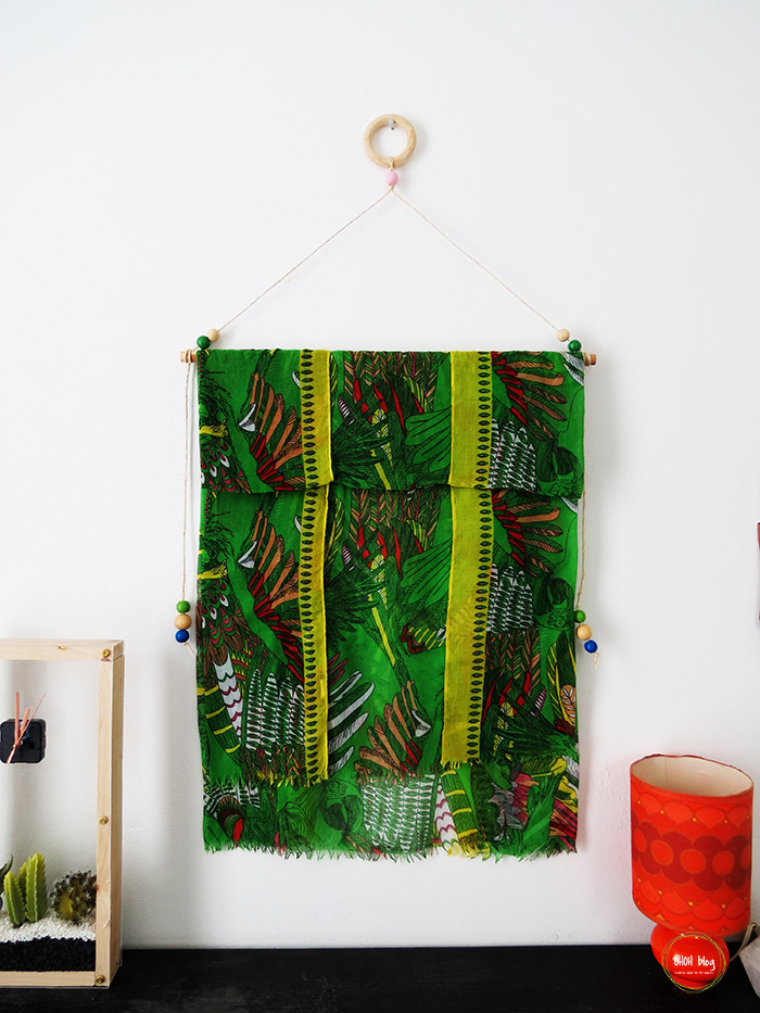 DIY Wall Art with a Scarf