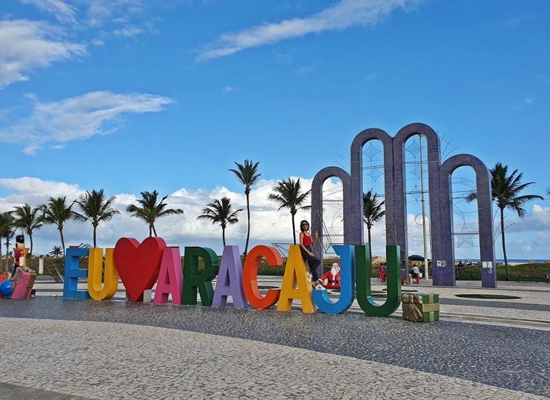 Letreiro Eu amo Aracaju