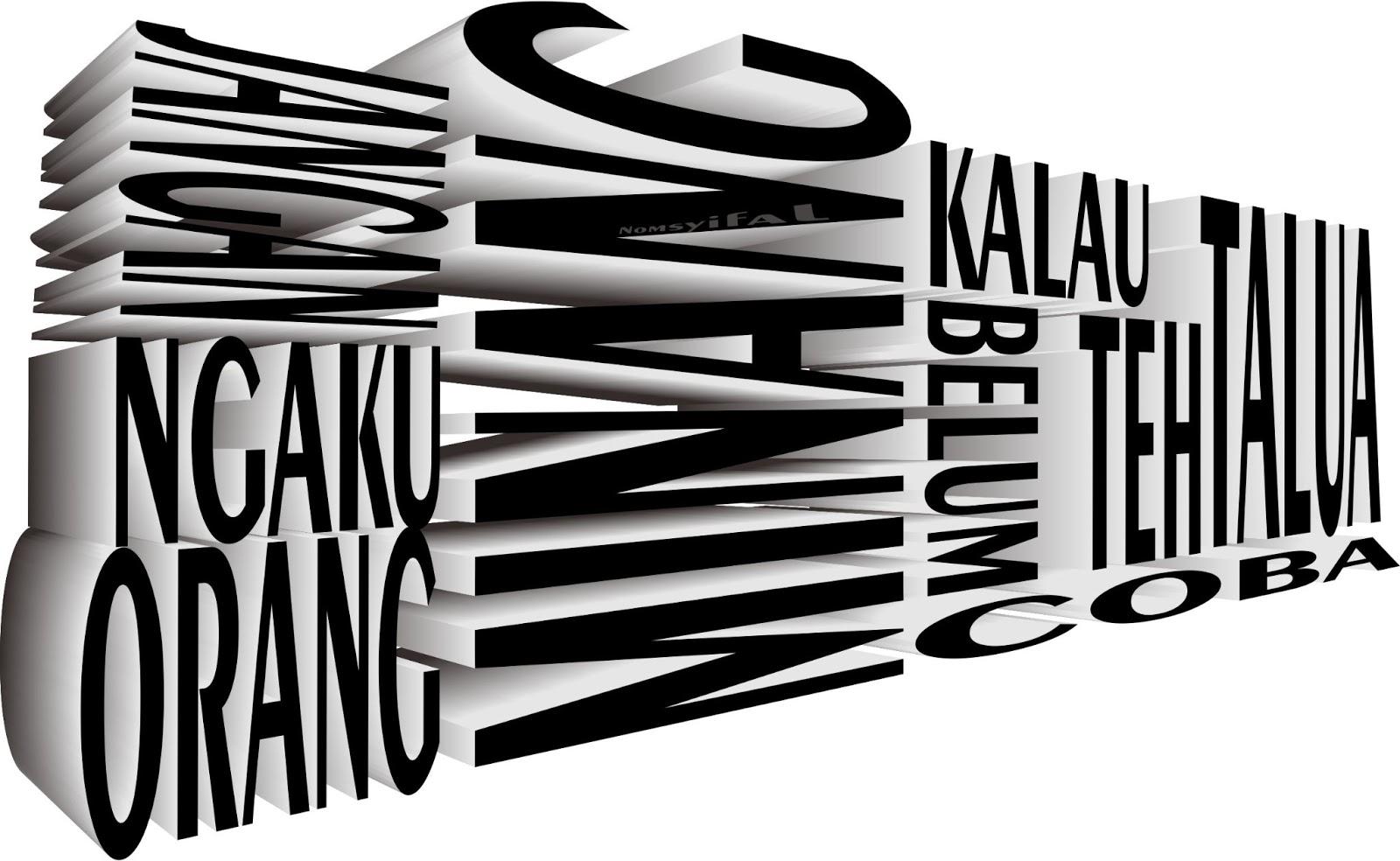 Jatuh Cinta Dengan Tipografi Nomsyifal