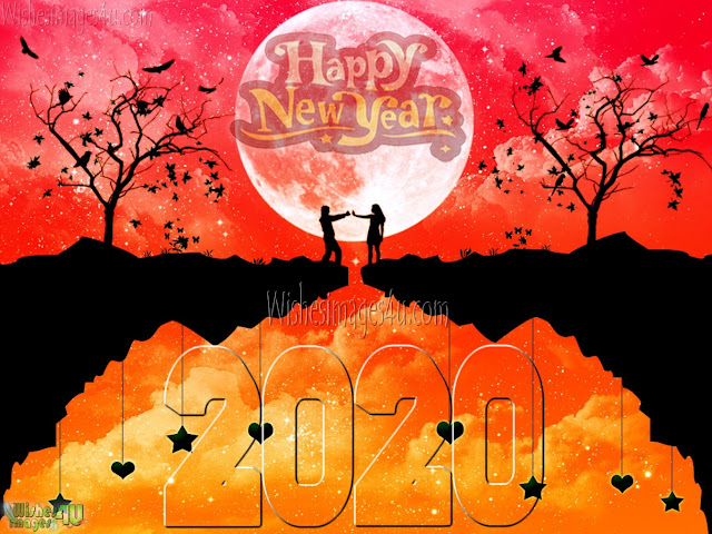 New Year 2020 HD Love Photo Wishes Greetings Download