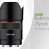 Rokinon Announces AF 75mm f/1.8 FE Lens for Sony E