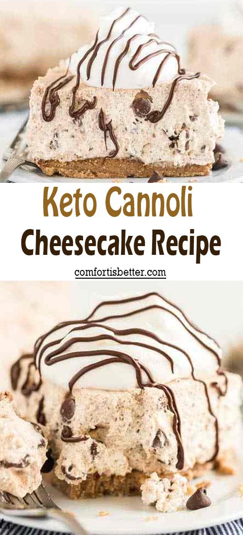 Keto Cannoli Cheesecake Recipe