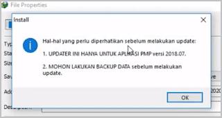 Cara Update dan Instal Aplikasi PMP 2018.08 Agar Terkoneksi Dapodik 2019