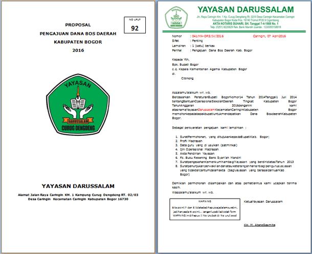 Contoh Proposal Pengajuan Dana BOS Daerah