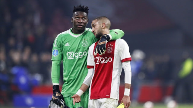 Chelsea star Hakim Ziyech is hoping to persuade the Premier League club to bring Ajax team-mate Andre Onana with him to Stamford Bridge.