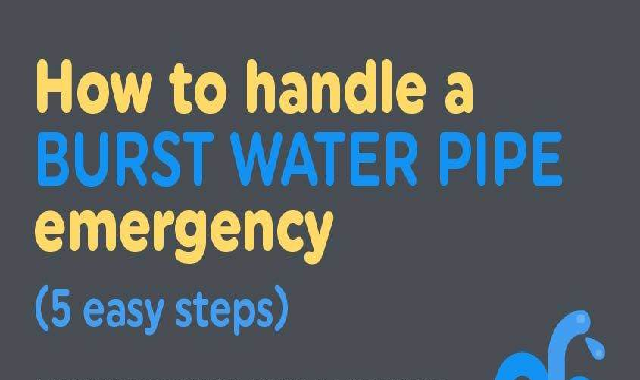How to handle a burst water pipe emergency (5 easy steps) #infographic