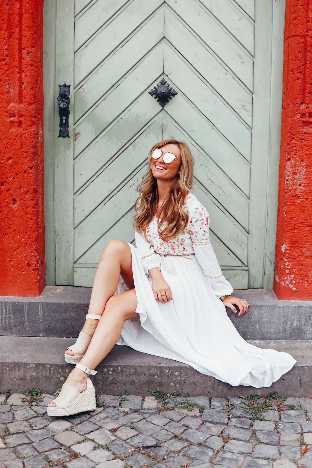 Weißes Sommerkleid Fashionstylebyjohanna