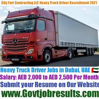 City Fort Contracting LLC Heavy Truck Driver Recruitment 2021-22