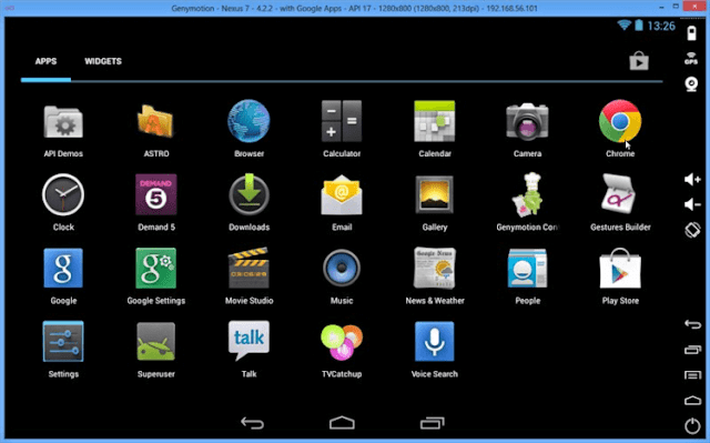 Download Genymotion Android Emulator