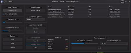 FACEBOOK ACCOUNTS CHECKER BY X-LINE V0.1