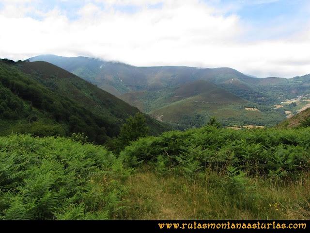 Ruta Bosques de Moal: Desvío a la izquierda en collado Monco