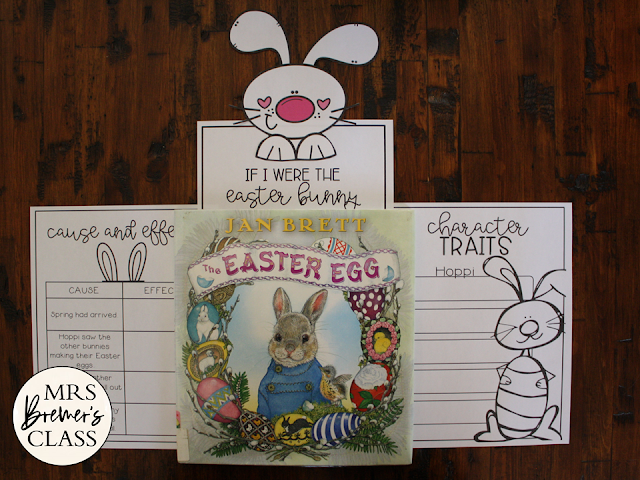 Easter Egg book study Common Core companion activities unit and craftivity K-1