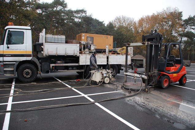 Diamantboringen asfalt - Parking - Diabeton