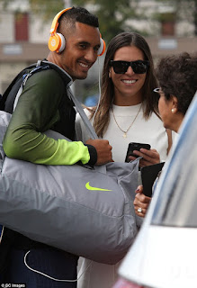 Nick Kyrgios And Ajla Tomljanovic Talking To Fan
