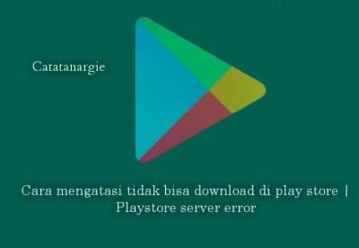 Cara mengatasi tidak bisa download di play store | Playstore server error