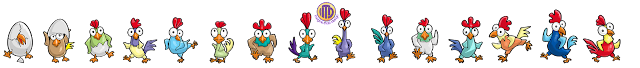 Rooster Race characters designed and illustrated by Imagine That! Design