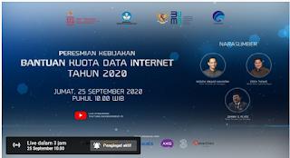PERESMIAN KEBIJAKAN BANTUAN KUOTA DATA INTERNET TAHUN 2020