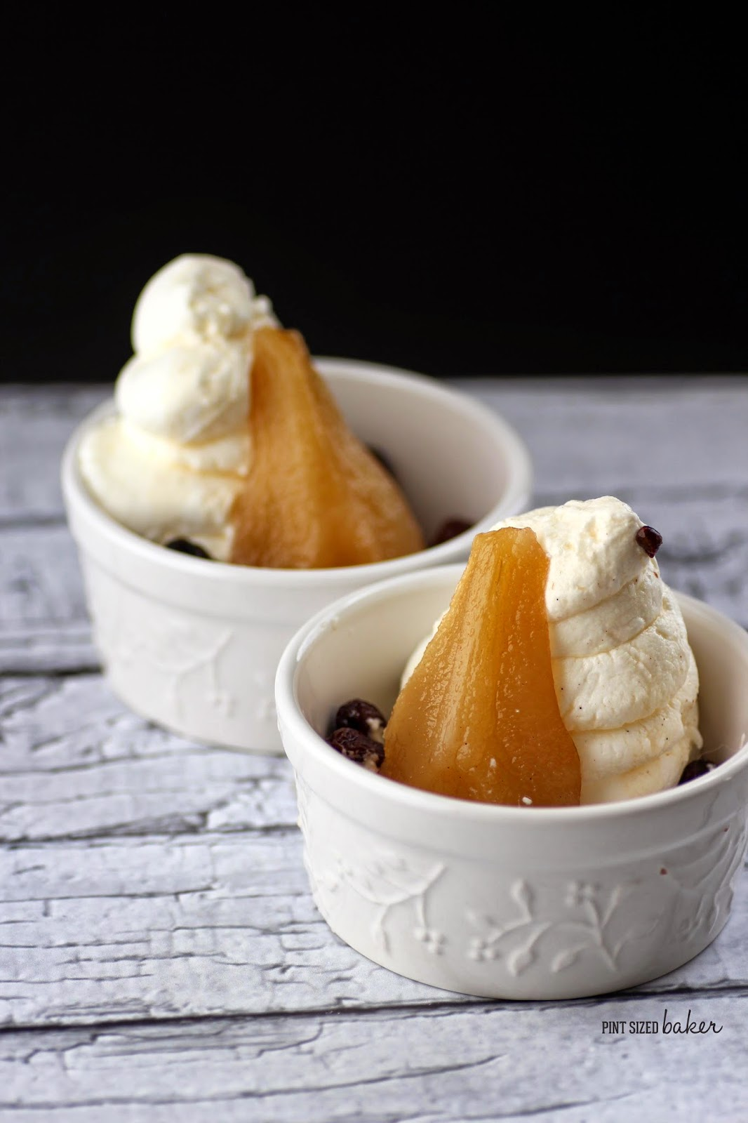 Enjoy some warm, poached pears that are easy to make and delicious for the whole family to enjoy.